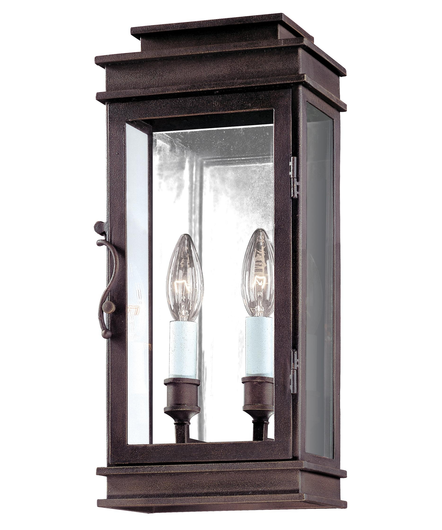 Well Known Troy Lighting B2971 Vintage 7 Inch Wide 2 Light Outdoor Wall Light Throughout Antique Outdoor Wall Lights (View 18 of 20)