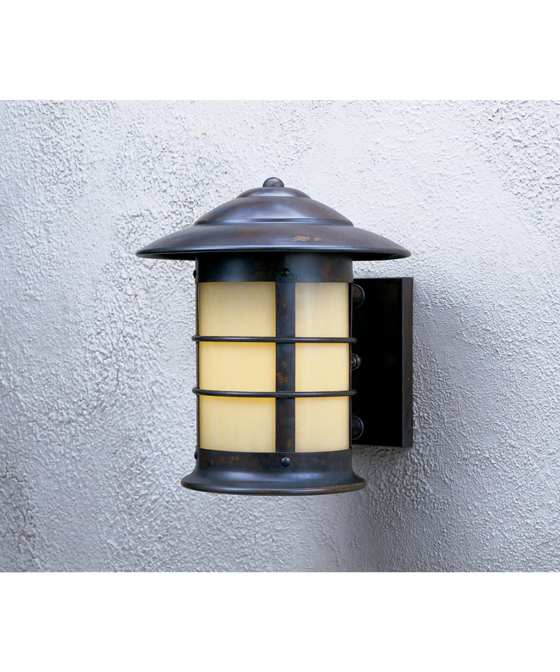 Well Known Verdigris Outdoor Wall Lighting Within Arroyo Craftsman Ns 9 Newport 9 Inch Wide 1 Light Outdoor Wall Light (View 18 of 20)