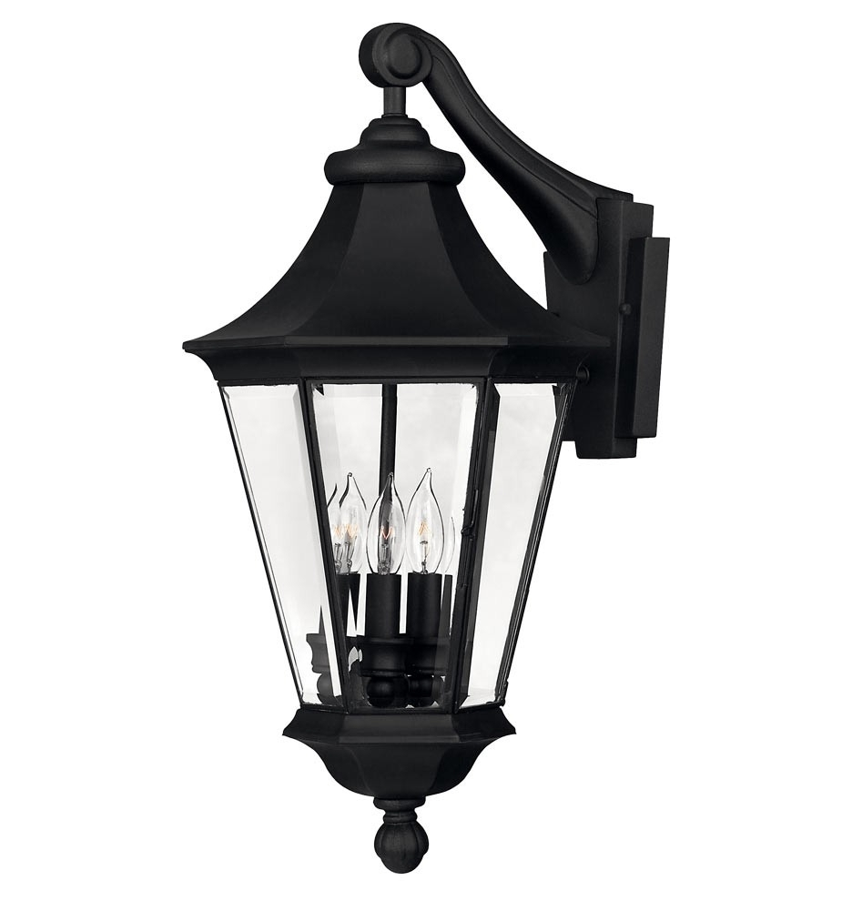 Well Known Victorian Outdoor Wall Lighting With Regard To Black Matte Victorian Outdoor Wall Sconce With Beveled Bound Glass (View 18 of 20)