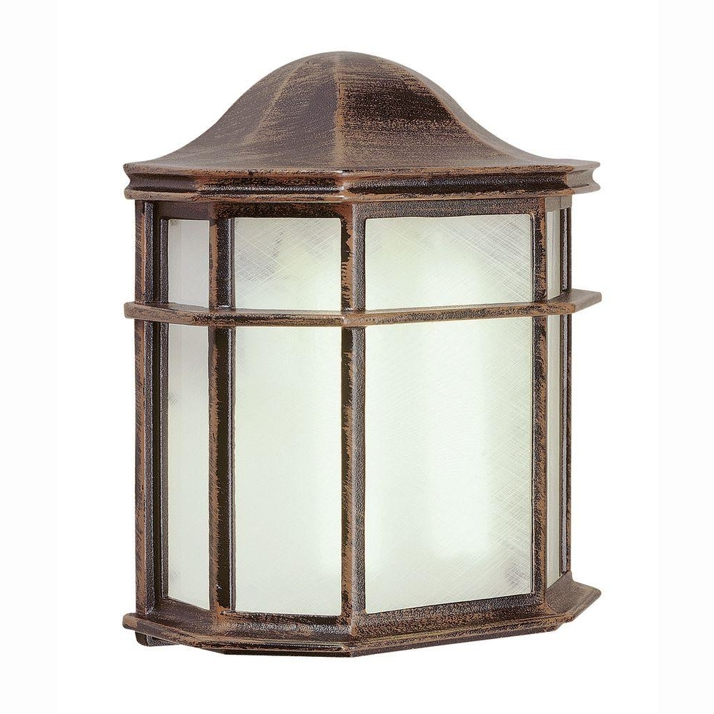 Well Liked Bel Air Lighting 1 Light Outdoor Rust Patio Wall Lantern With In Big Outdoor Wall Lighting (View 5 of 20)