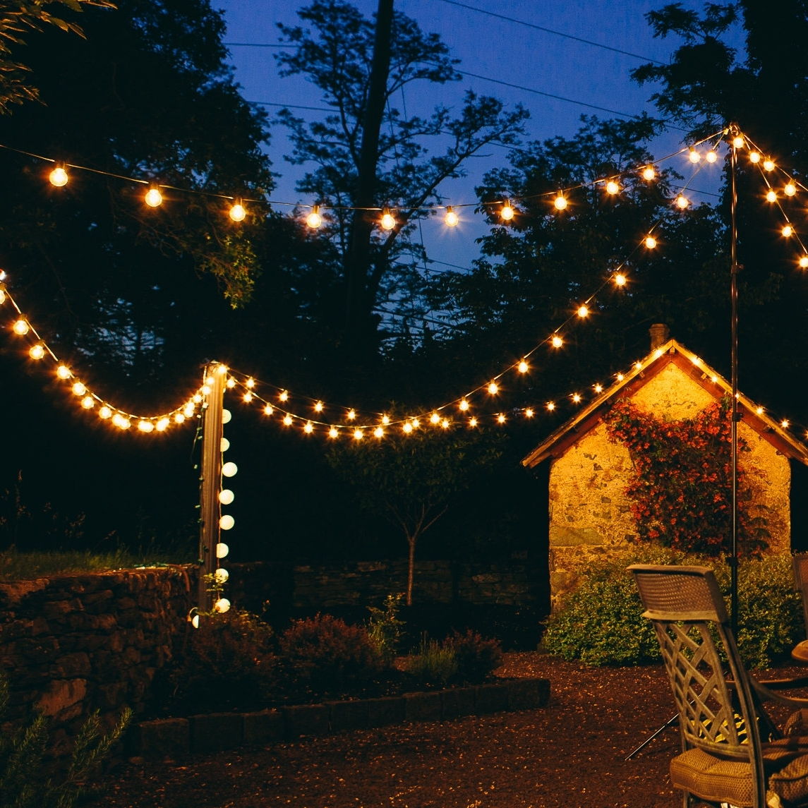 Well Liked Contemporary Outdoor String Lights At Wayfair Throughout Hometown Evolution, Inc (View 20 of 20)