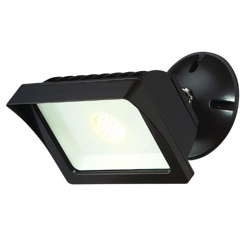 Well Liked Envirolite Bronze Outdoor Led Adjustable Single Head Flood Light With Regard To Outdoor Ceiling Security Lights (View 7 of 20)