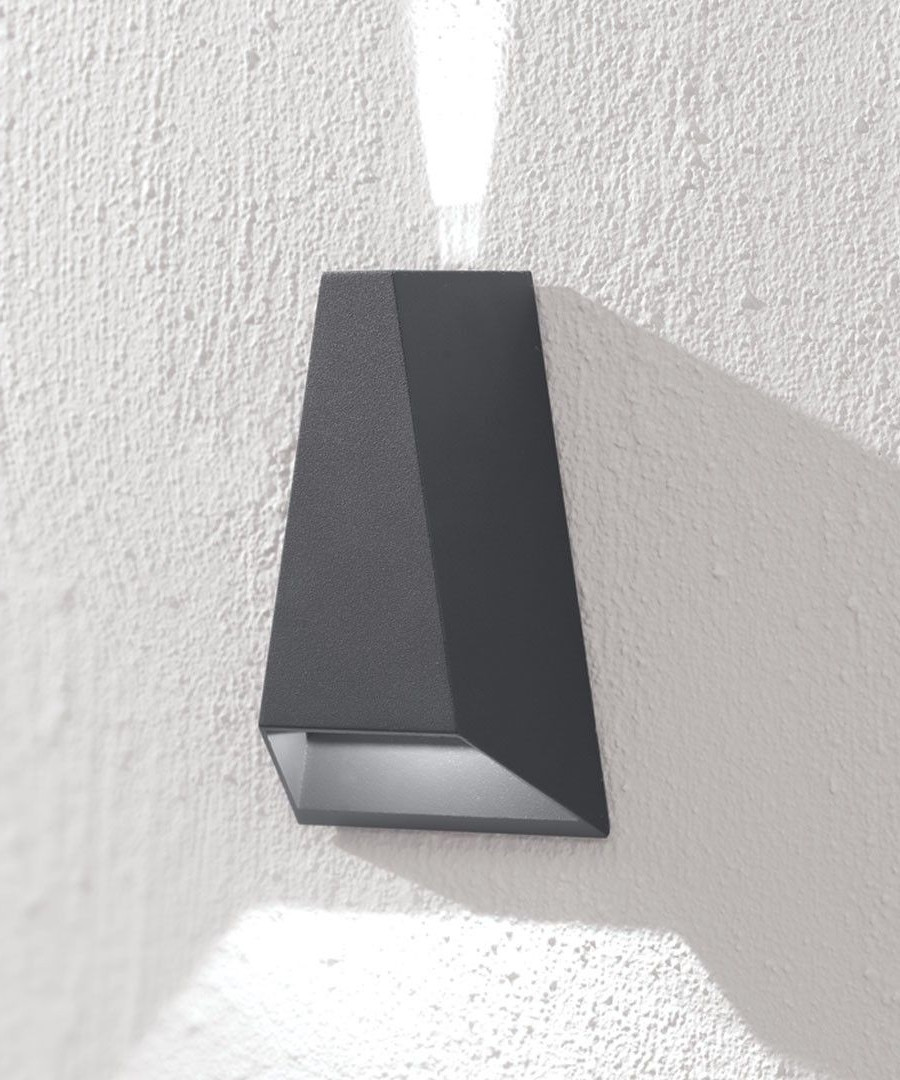 Well Liked Ledlux Vice 6W Triangle Up/down Exterior Wall Bracket In Charcoal Throughout Beacon Lighting Outdoor Wall Lights (View 20 of 20)