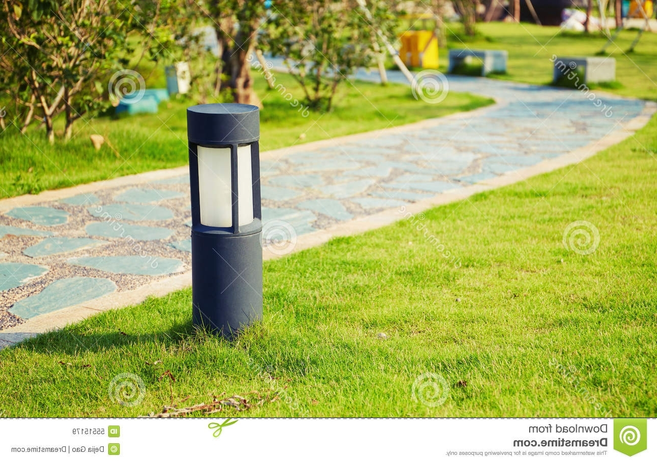 Well Liked Modern Garden Landscape Lighting Within Lawn Lamp Landscape Lighting Outdoor Garden Light Stock Image (View 20 of 20)