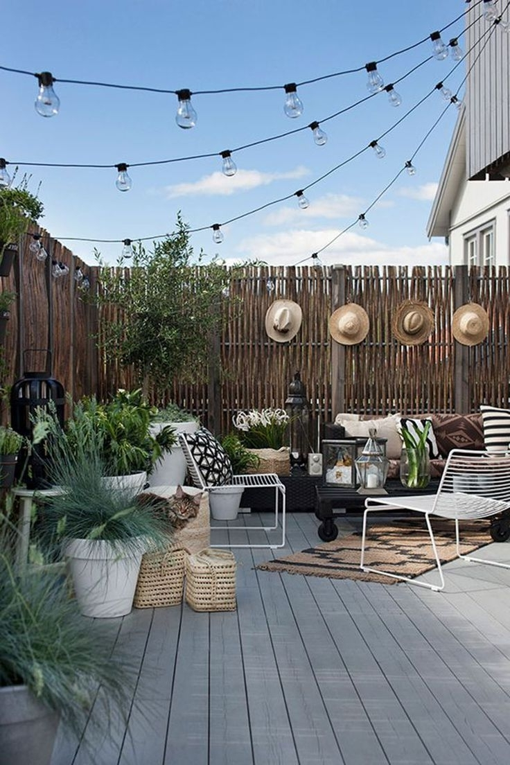 Well Liked Modern Outdoor String Lights For The Essentials For A Great Patio (View 4 of 20)