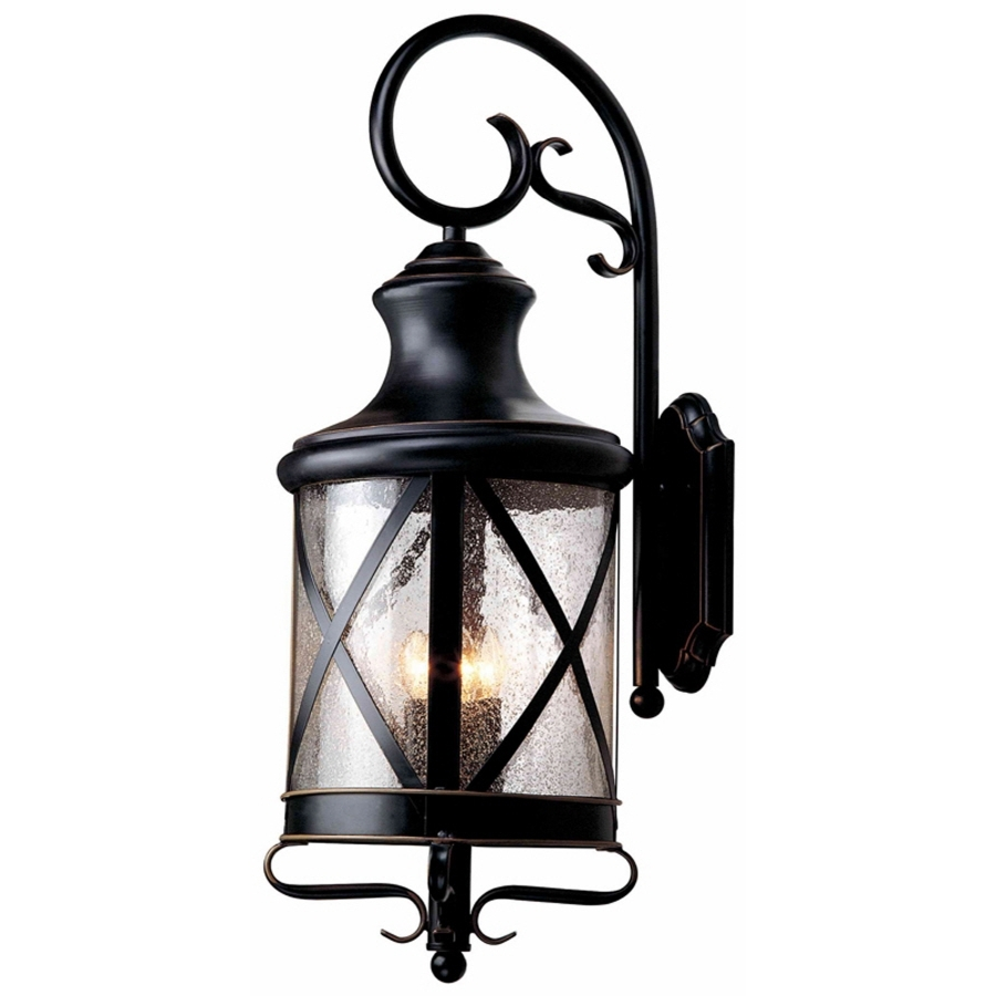 Well Liked Oil Rubbed Bronze Outdoor Wall Lights In Shop Allen + Roth Oil Rubbed Bronze Outdoor Wall Light At Lowes (View 5 of 20)