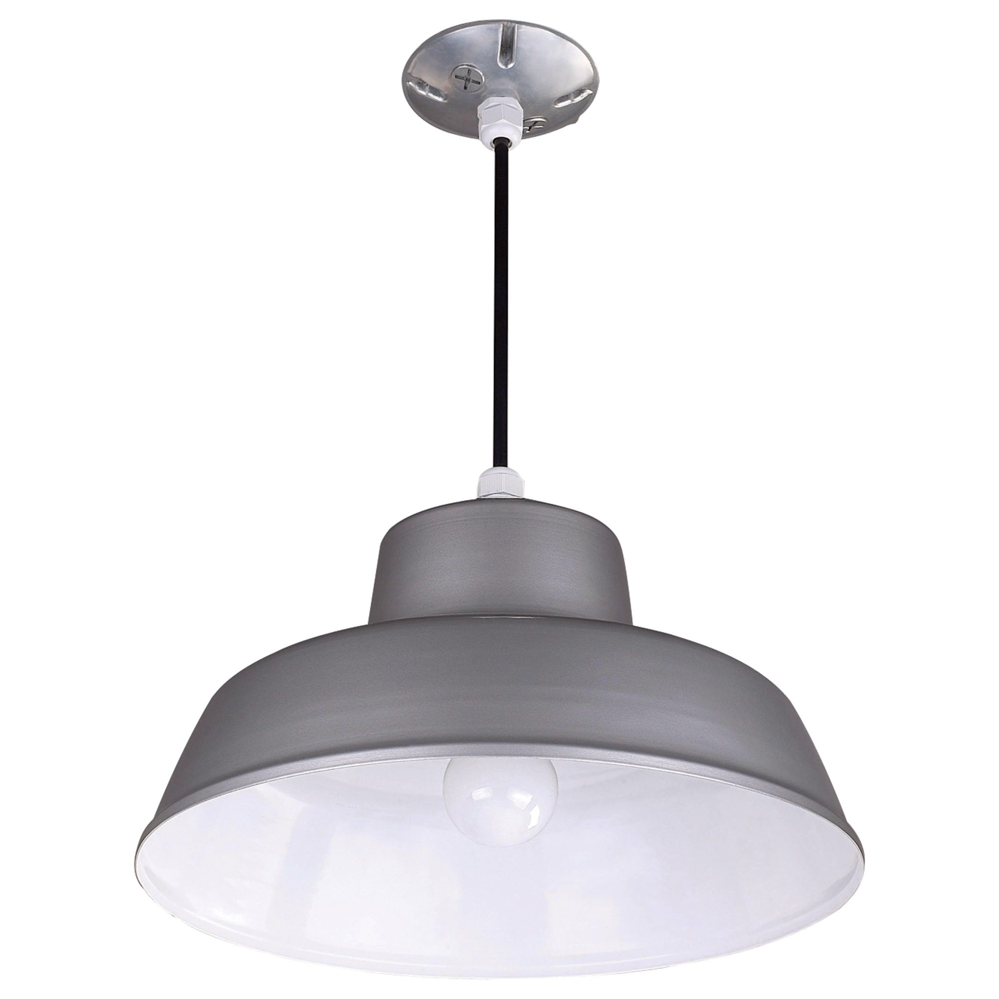 Well Liked Outdoor Ceiling Hanging Lights Throughout Canarm Suspended Ceiling Barn Light — 14 3/8In. Dia (View 20 of 20)