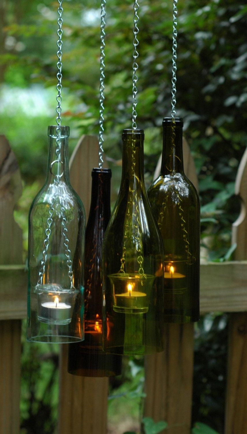Well Liked Outdoor Hanging Bottle Lights Within 16 Charming Upcycled Outdoor Spring Lighting Ideas (View 6 of 20)