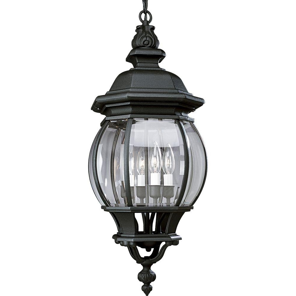 Well Liked Outdoor Hanging Coach Lights Inside Progress Lighting Onion Hanging Lantern Collection 4 Light Outdoor (View 19 of 20)