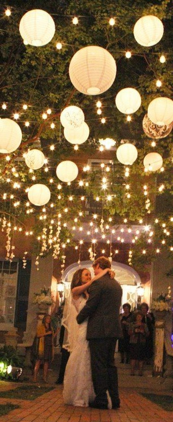 Well Liked Outdoor Hanging Nylon Lanterns With Regard To Wow Factor Wedding Ideas Without Breaking The Budget (View 3 of 20)