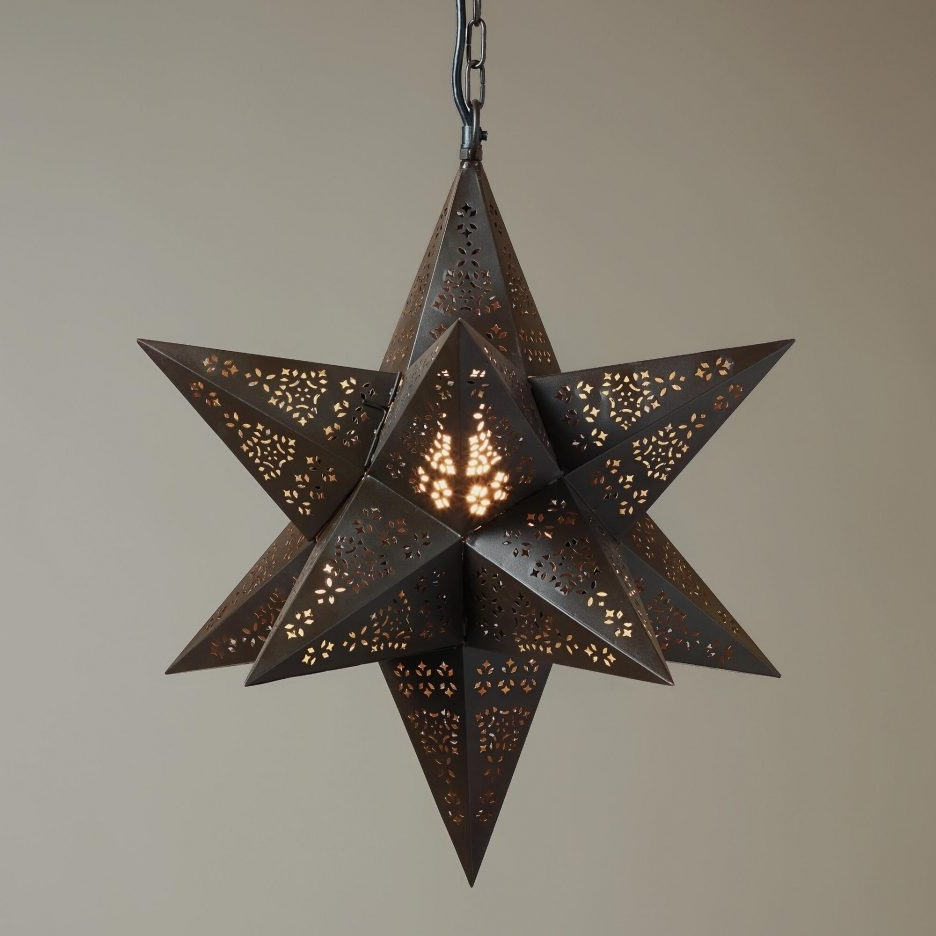 Well Liked Outdoor Hanging Star Lanterns Regarding Paper Diy Pendant Lighting Moravian