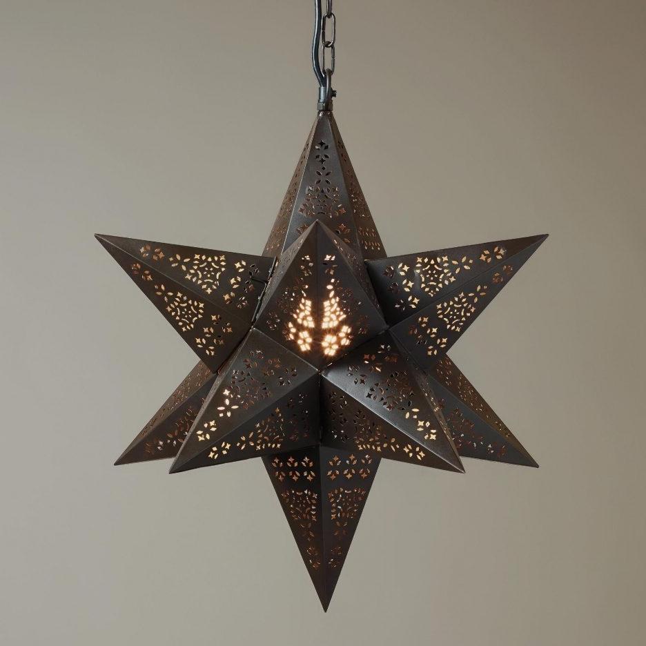 Well Liked Outdoor Hanging Star Lanterns Regarding Paper Star Lanterns Diy Star Pendant Lighting Moravian Star Light (View 9 of 20)