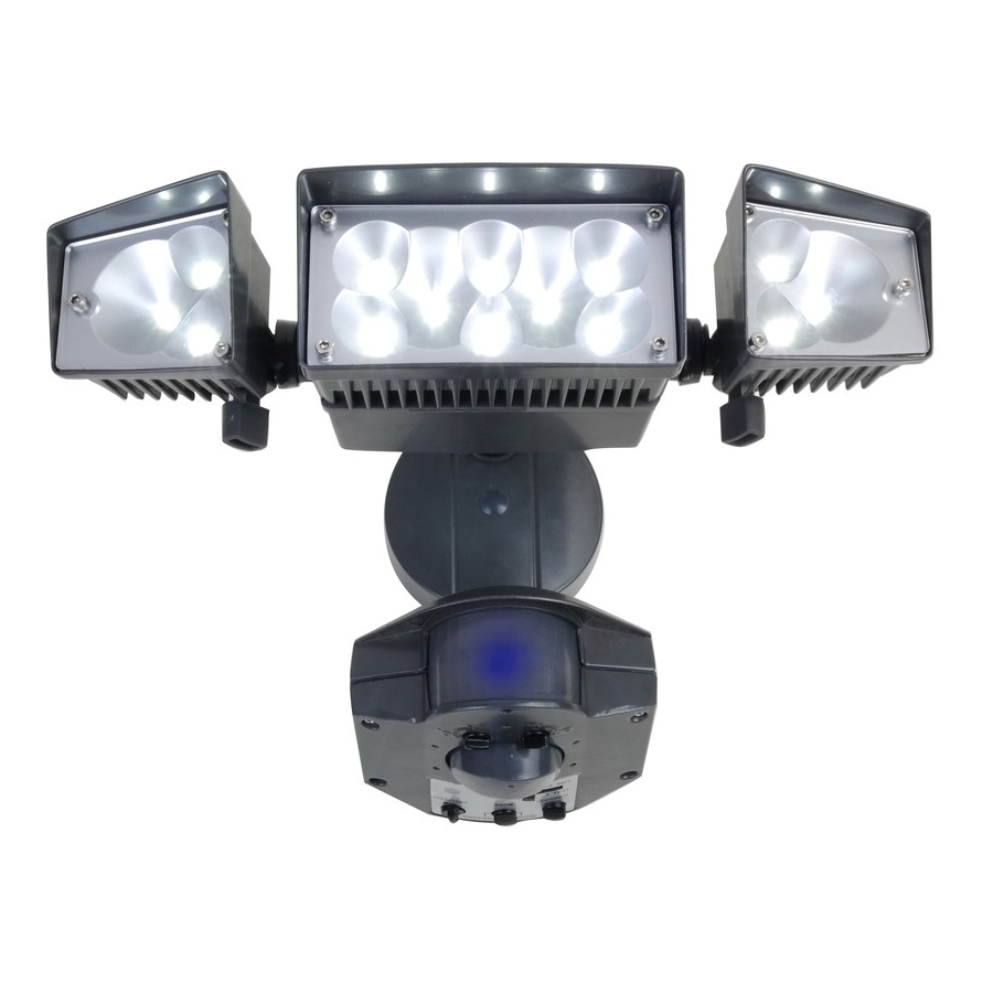Well Liked Outdoor Lighting: Astounding Led Exterior Flood Light Fixtures With Hanging Outdoor Security Lights (View 12 of 20)