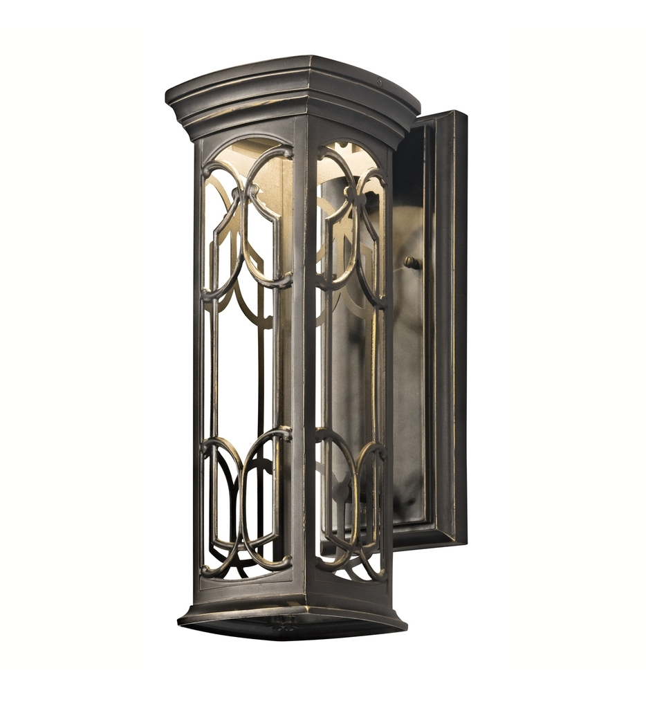 Well Liked Outdoor Wall Lighting At Kichler Regarding Kichler – 49226Ozled – Franceasi Olde Bronze  (View 19 of 20)