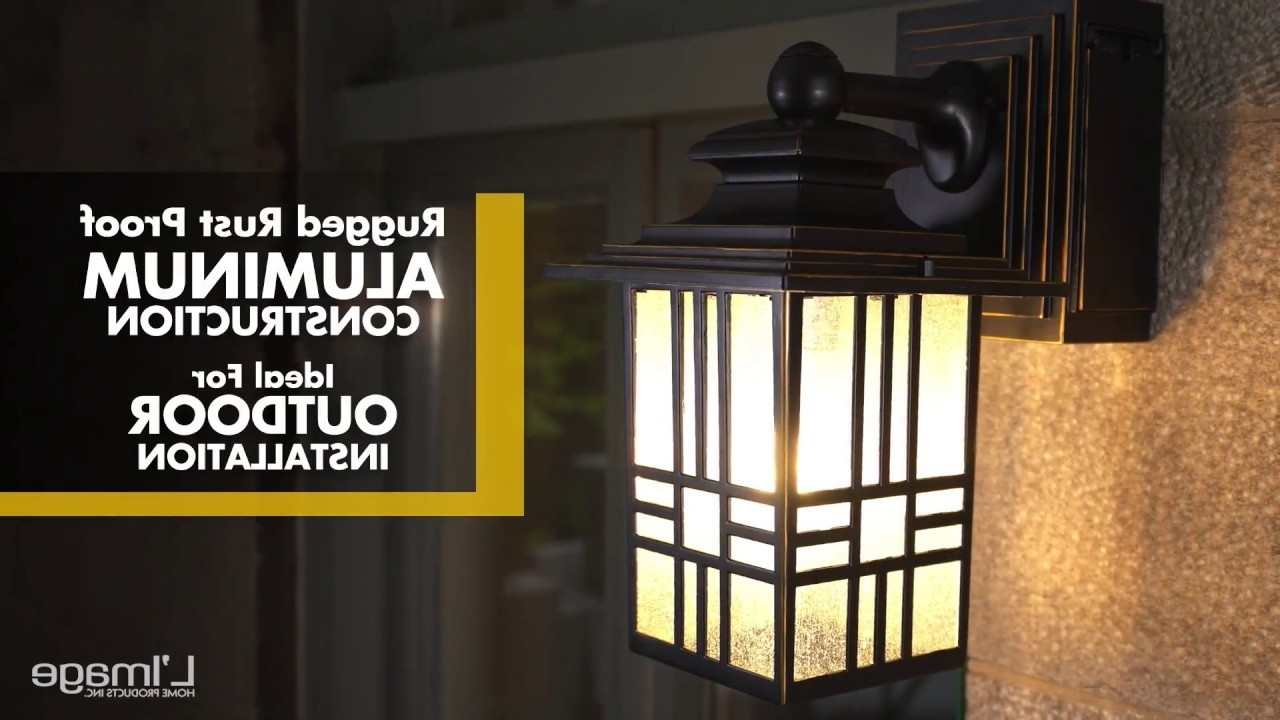 Well Liked Outdoor Wall Lights With Gfci Outlet Inside Home Luminaire Mission Outdoor Wall Lantern With Gfci Outlet – Youtube (View 19 of 20)
