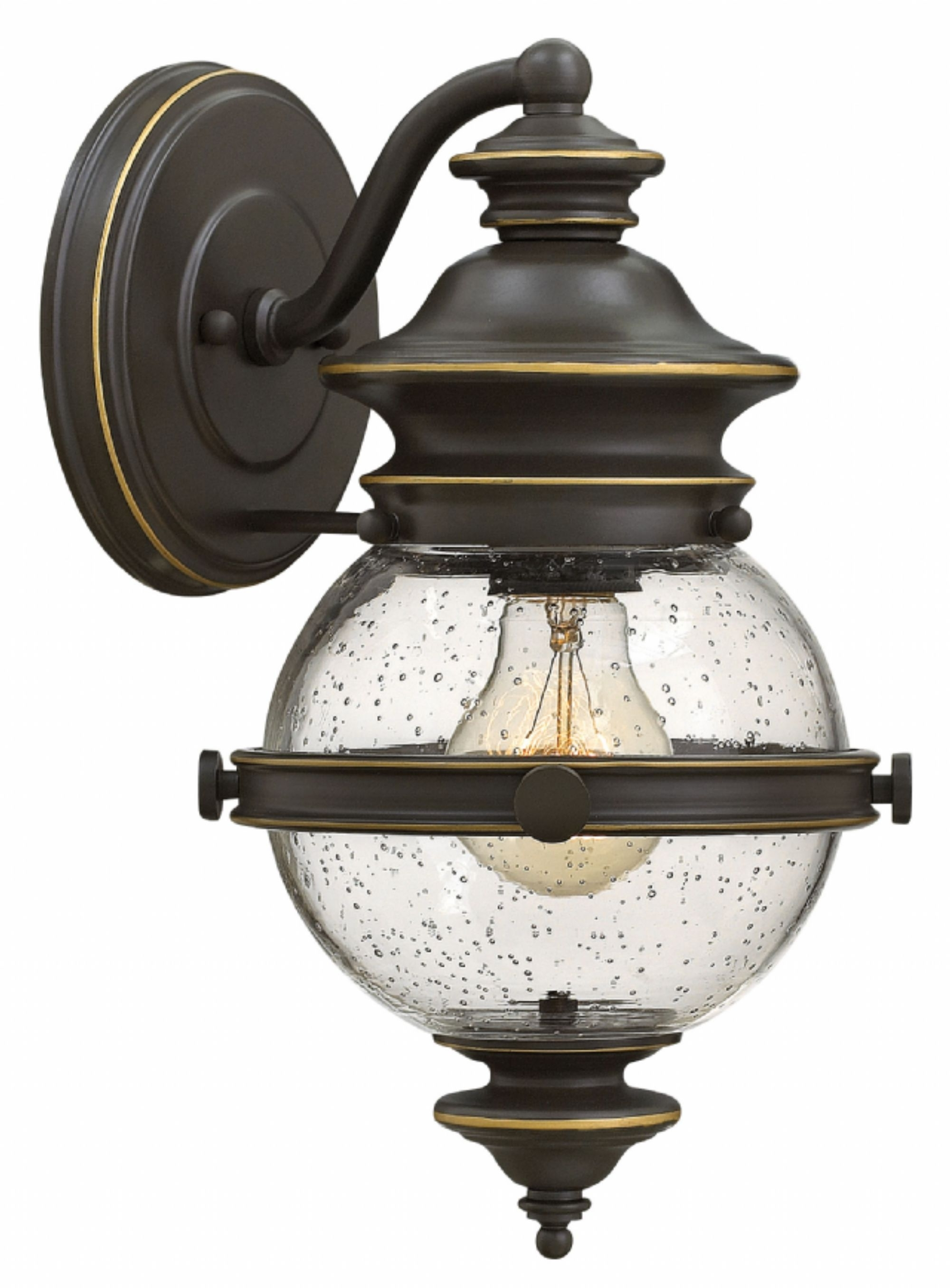 Well Liked Outdoor Wall Mounted Globe Lights Throughout Oil Rubbed Bronze Saybrook > Exterior Wall Mount (View 13 of 20)