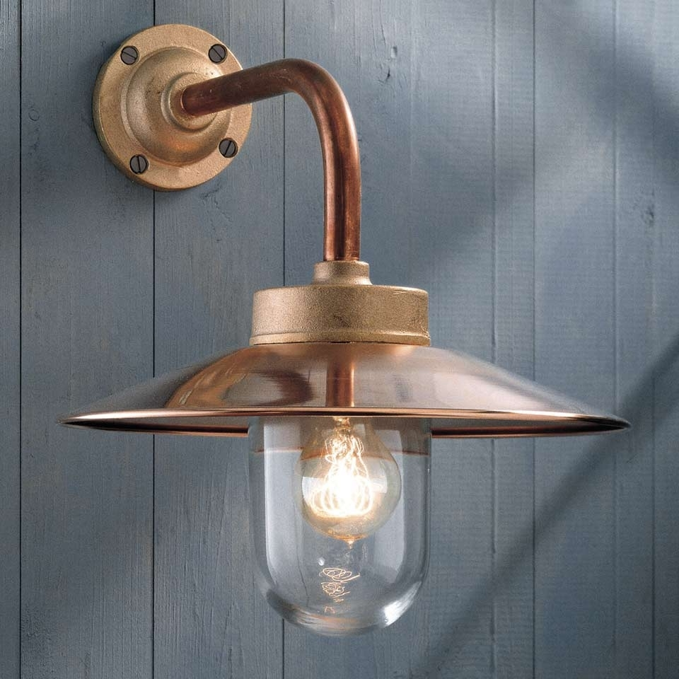 Well Liked Quay Light 90° Copper With Clear Glass – Nautictekna – Classic In Copper Outdoor Wall Lighting (View 13 of 20)