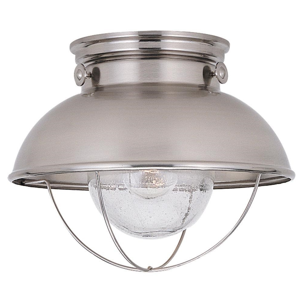 Well Liked Sea Gull Lighting 8869 98 Sebring 1 Light Outdoor Semi Flush Mount Within Outdoor Semi Flush Ceiling Lights (View 19 of 20)