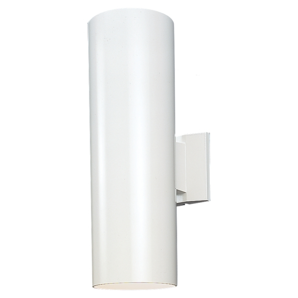 Well Liked White Led Outdoor Wall Lights Inside Seagull 8413991s 15 Outdoor Bullets Contemporary White Led Exterior (View 6 of 20)
