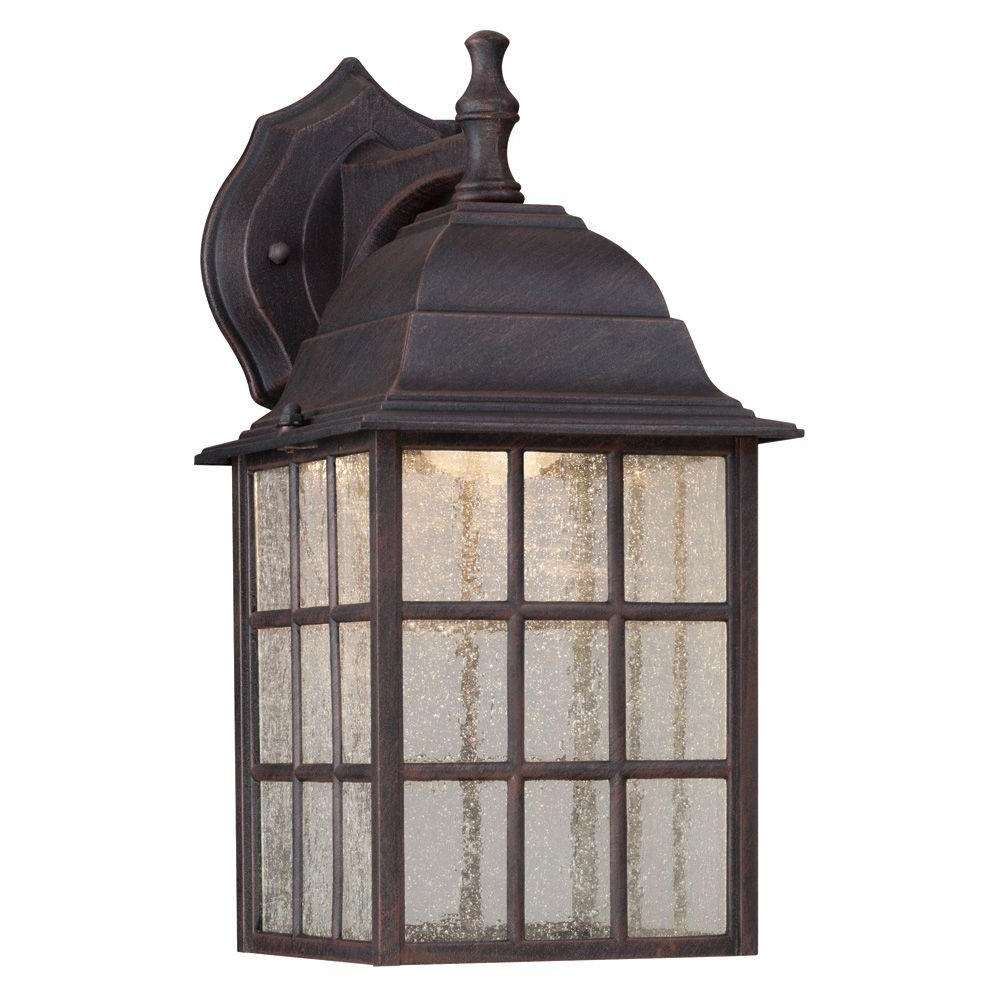 Westinghouse 1 Light Weathered Patina Outdoor Led Wall Mount Lantern Regarding Most Recent Aluminum Outdoor Wall Lighting (View 19 of 20)