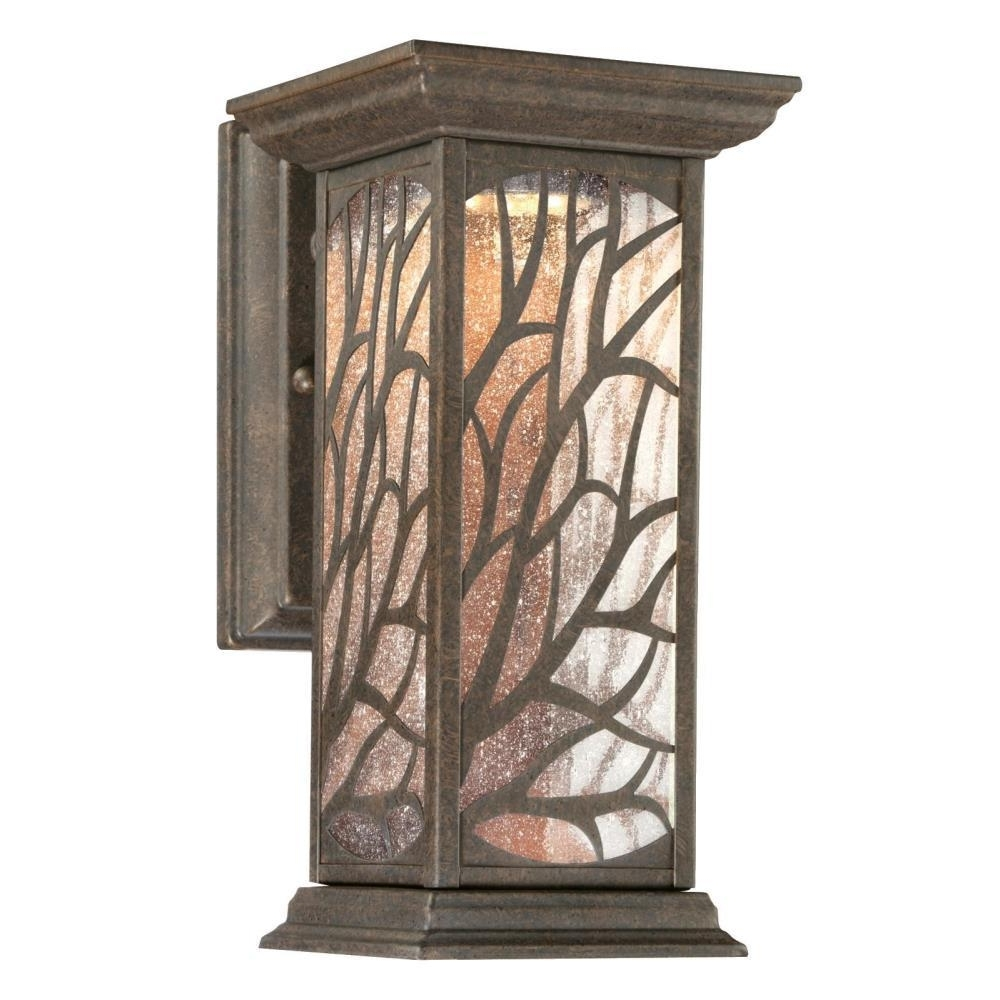 Westinghouse Glenwillow 1 Light Victorian Bronze Outdoor Integrated Pertaining To Newest Stained Glass Outdoor Wall Lights (View 18 of 20)