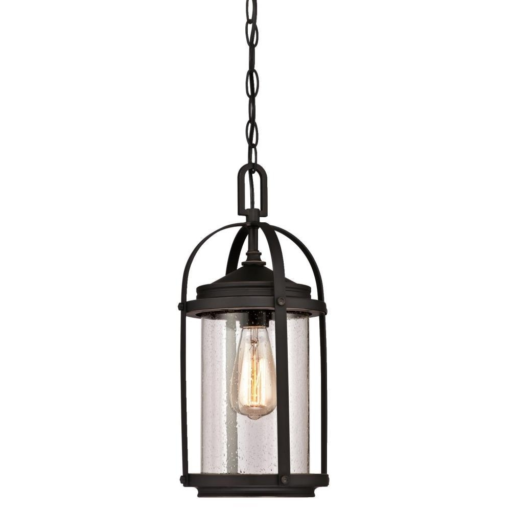 Westinghouse Grandview 1 Light Oil Rubbed Bronze With Highlights Within Widely Used Oil Rubbed Bronze Outdoor Hanging Lights (View 19 of 20)