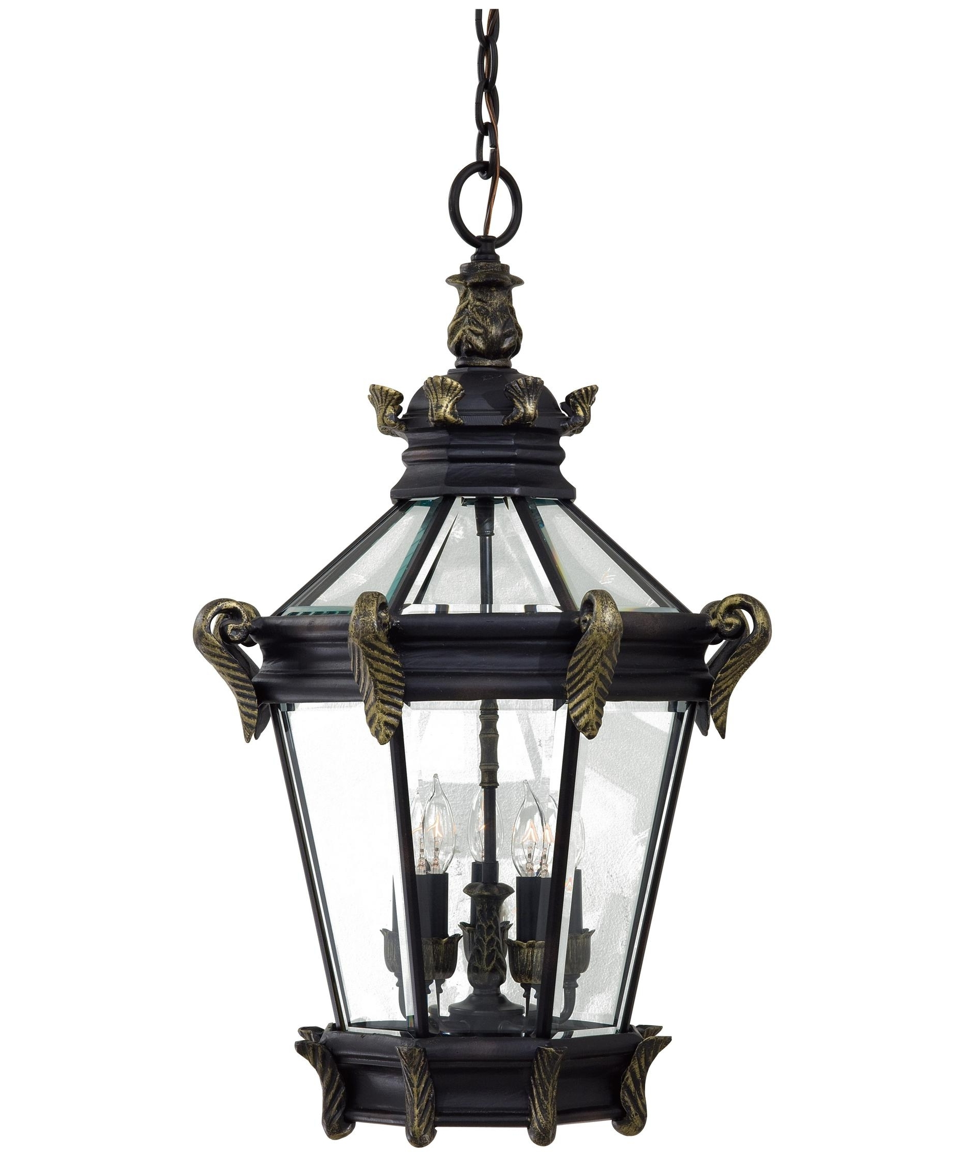 White Outdoor Hanging Lanterns Pertaining To Fashionable Minka Lavery 8934 Stratford Hall 19 Inch Wide 5 Light Outdoor (View 18 of 20)