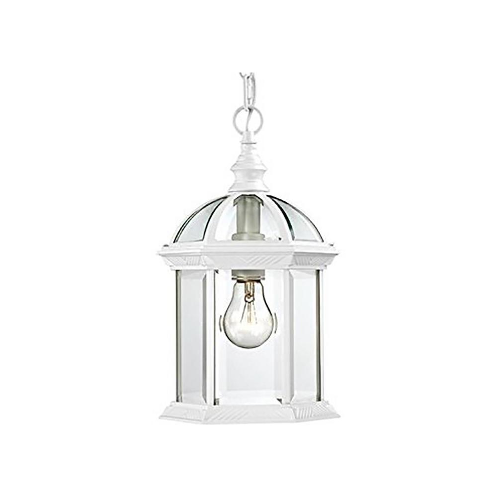 White Outdoor Hanging Lanterns Throughout Latest Bel Air Lighting Wentworth White 1 Light Outdoor Hanging Lantern (View 5 of 20)