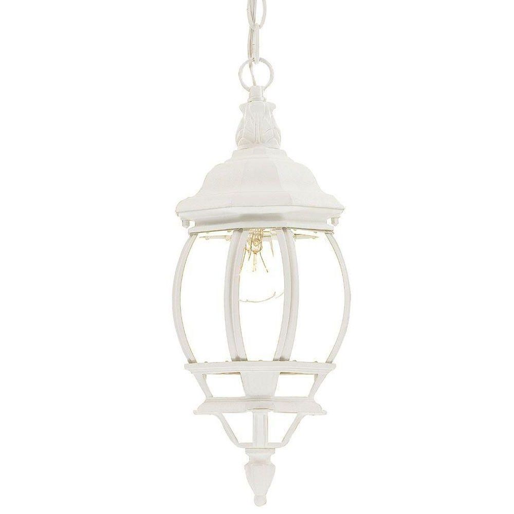 White Outdoor Hanging Lights Inside Fashionable Acclaim Lighting Chateau Collection 1 Light White Outdoor Hanging (View 15 of 20)