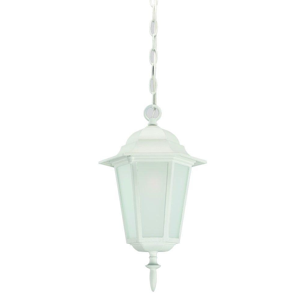 White Outdoor Hanging Lights With Regard To Newest Acclaim Lighting Camelot Collection 1 Light Textured White Outdoor (View 20 of 20)