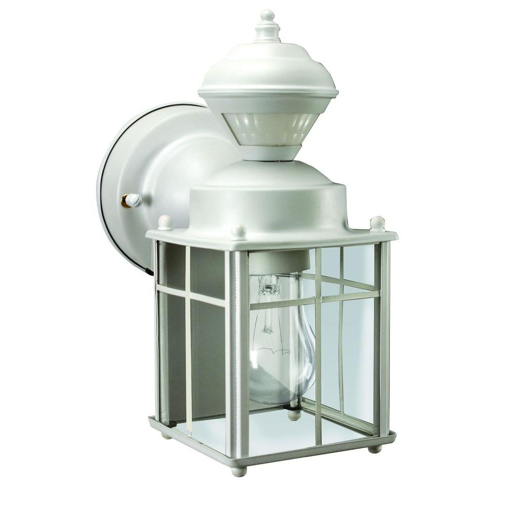 White – Outdoor Lanterns – Motion Sensing – Outdoor Lanterns In Preferred White Outdoor Wall Mounted Lighting (View 12 of 20)