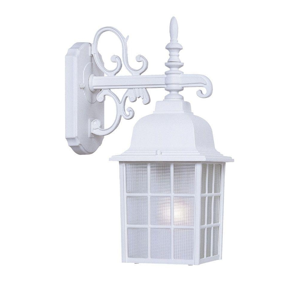 White Outdoor Wall Lights Inside Well Known Acclaim Lighting Nautica Collection 1 Light Textured White Outdoor (View 18 of 20)