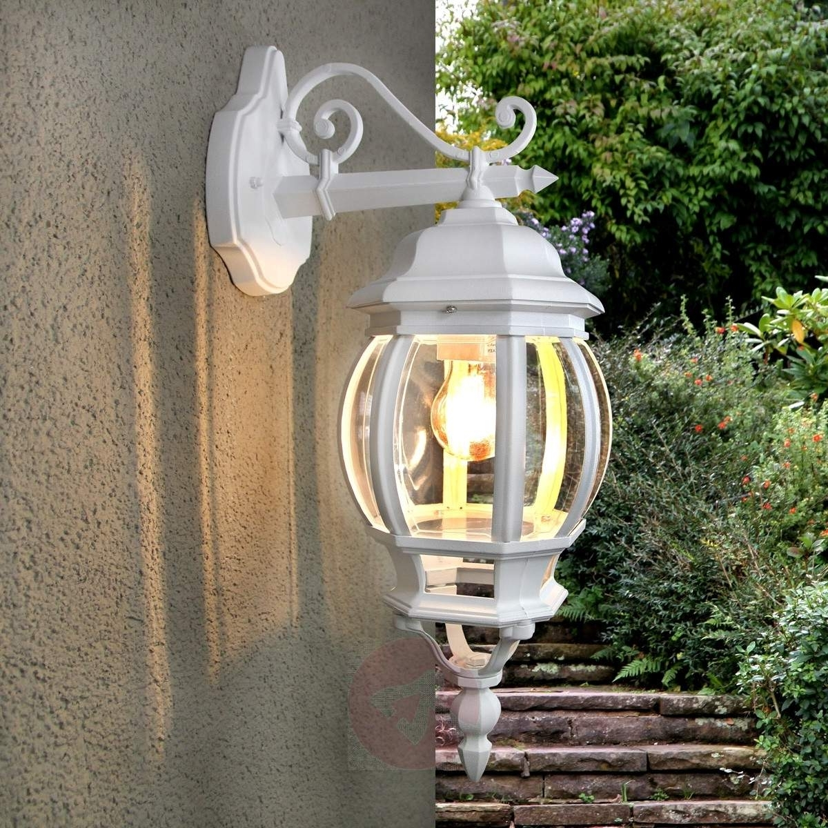White Outdoor Wall Lights Pertaining To Most Up To Date Theodor Outside Wall Light White (View 6 of 20)