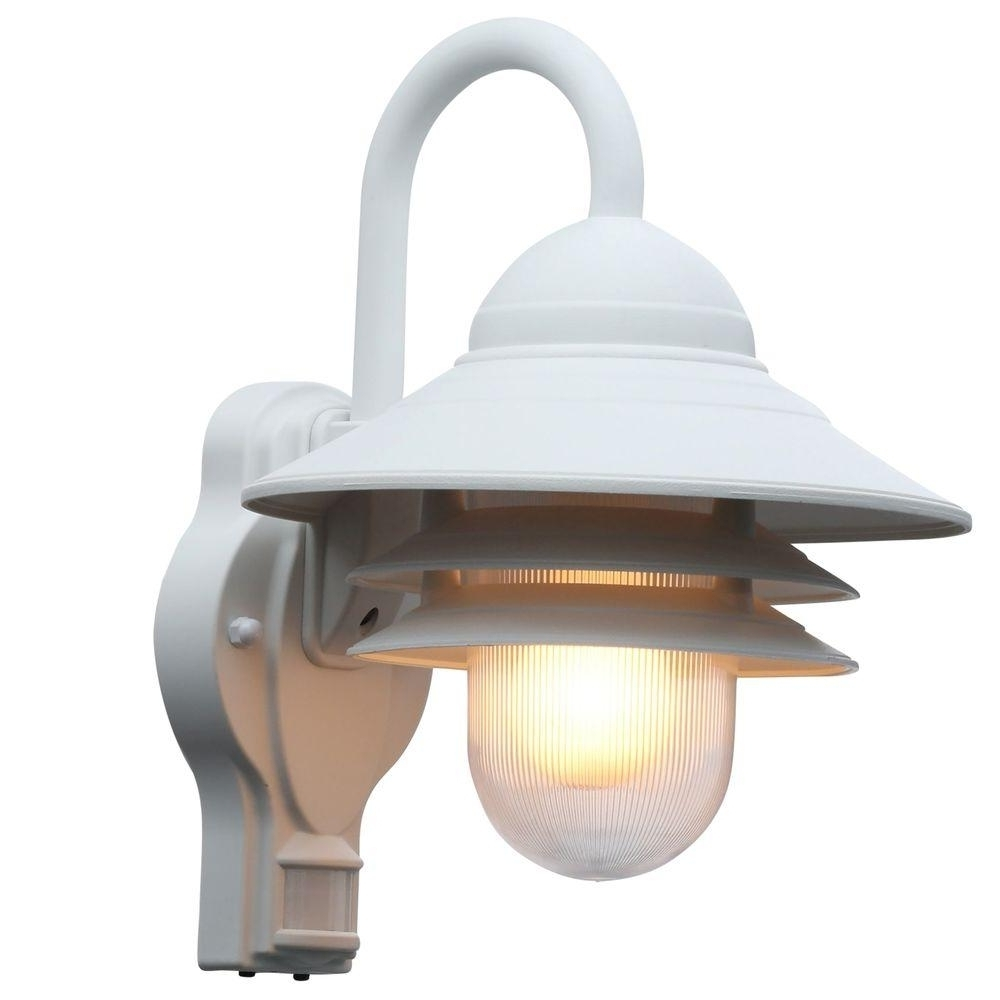 White Outdoor Wall Mounted Lighting In Latest Motion Sensor Outdoor Wall Light White • Outdoor Lighting (View 17 of 20)