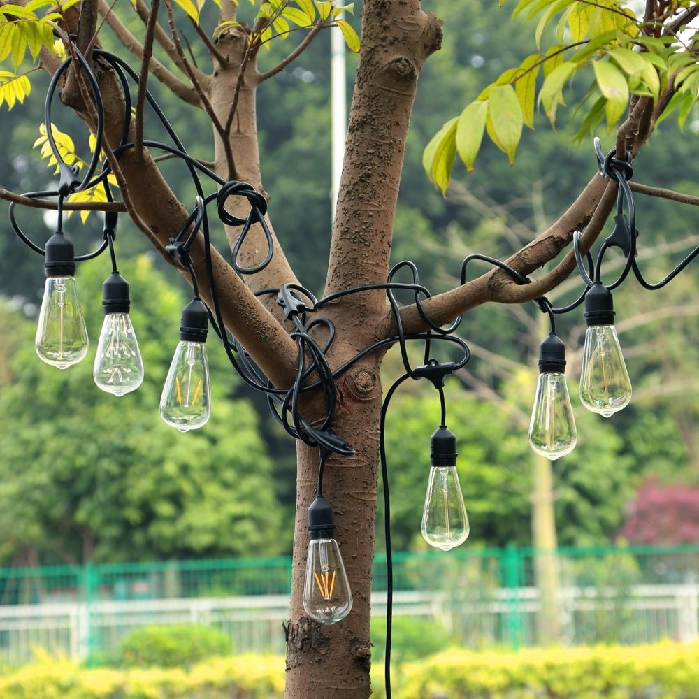 Wholesale Vintage Commercial Light String 9 Hanging Sockets 30Ft Pertaining To Most Up To Date Outdoor Waterproof Hanging Lights (View 20 of 20)