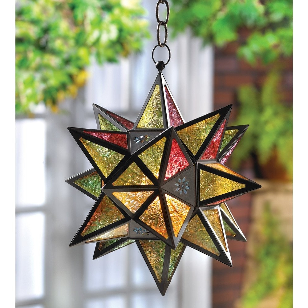 Widely Used Amazon – Moroccan Style Star Lantern Brown – Decorative Candle In Outdoor Hanging Star Lanterns (View 13 of 20)