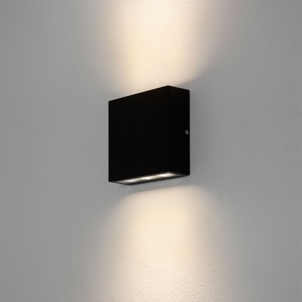 Widely Used Astro Elis Twin Black Outdoor Led Wall Light At Uk Electrical Supplies (View 19 of 20)