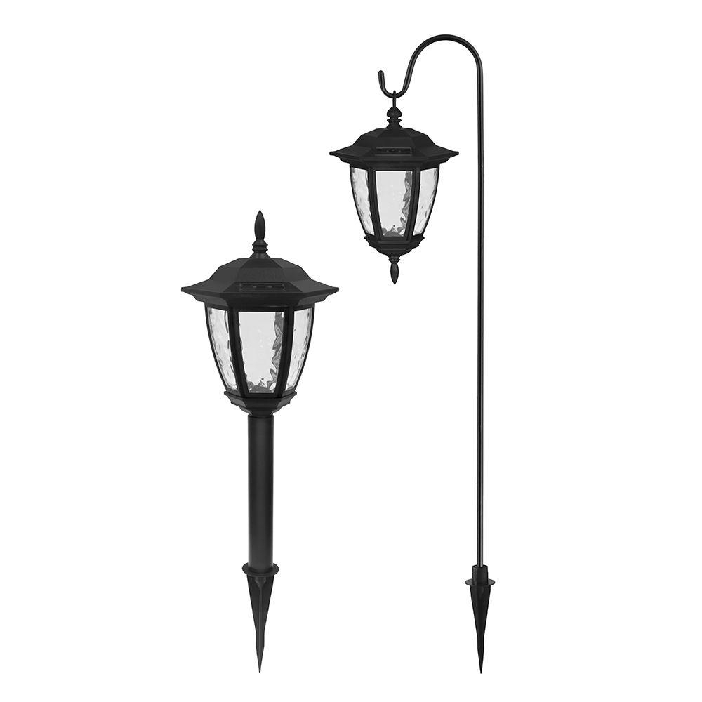 Widely Used Contemporary Outdoor Solar Lights At Wayfair Throughout Ezsolar Solar Powered Led Black Dual Use Coach Light Set (2 Pack (View 20 of 20)