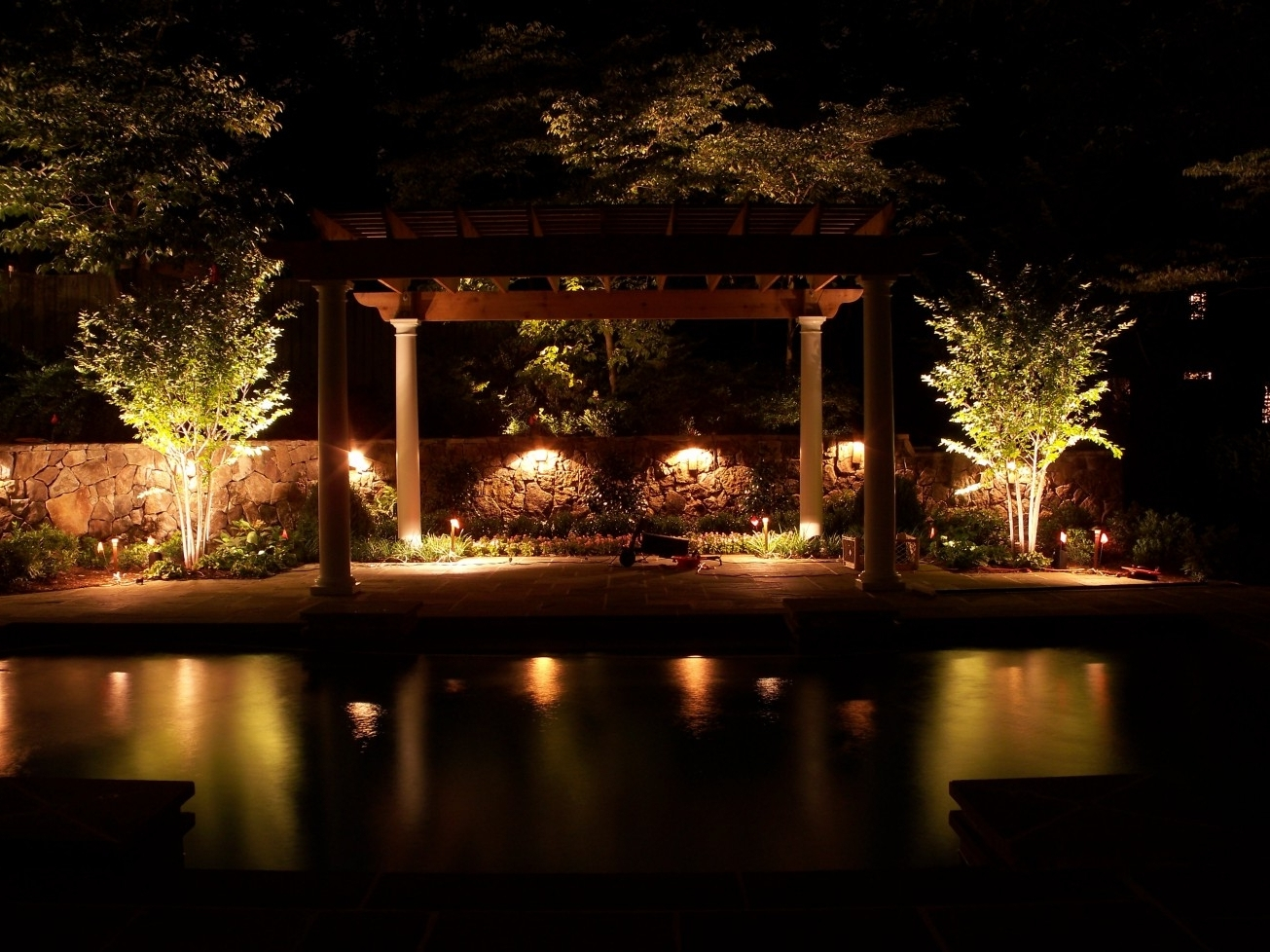 Widely Used Electric Outdoor Lighting Garden Regarding Garden Ideas : Outdoor Lamps Electric Outdoor Lights Garden String (View 20 of 20)