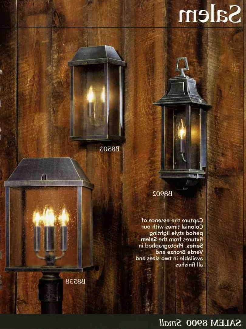 Widely Used Georgian Style Outdoor Lighting Regarding Colonial Style Outdoor Light Fixtures – Outdoor Designs (View 4 of 20)