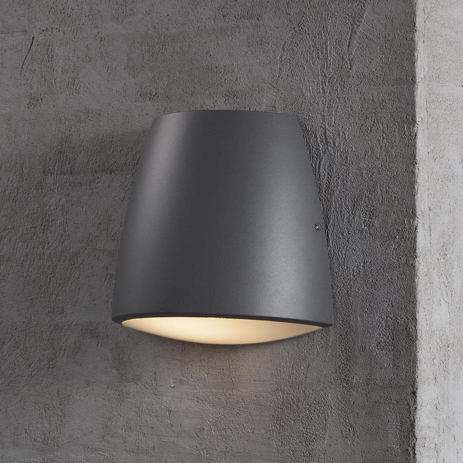 Widely Used Grey Outdoor Wall Lights Intended For Buy Coxs Curved Outdoor Wall Lightingnordlux — The Worm That (View 11 of 20)