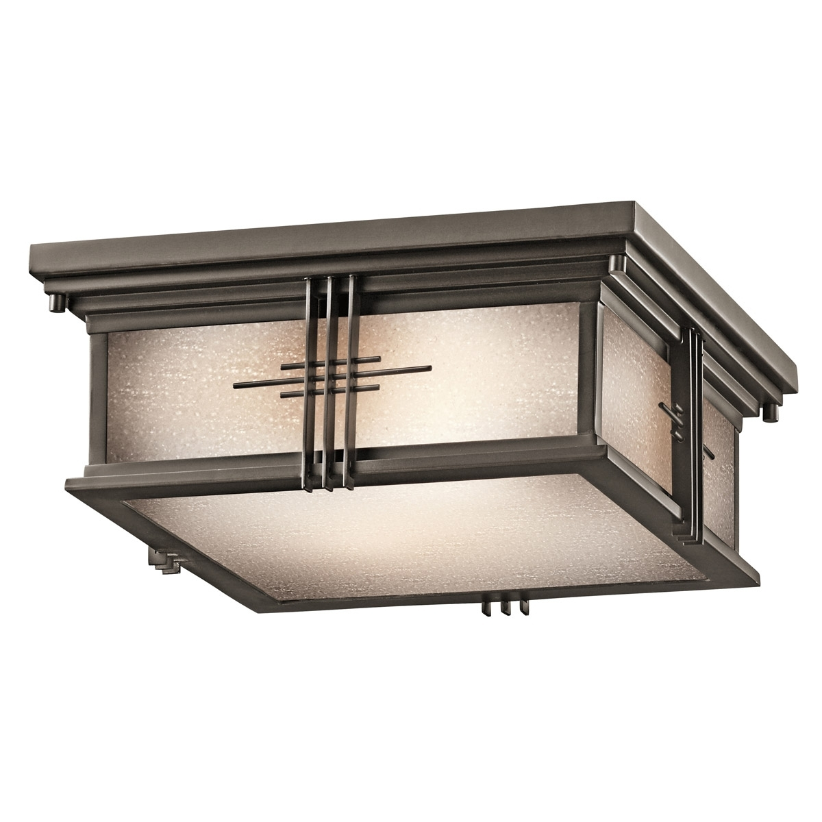 Widely Used Kichler Outdoor Ceiling Lights Intended For 49164Oz Portman Square Outdoor Flush Mount Ceiling Fixture (View 20 of 20)