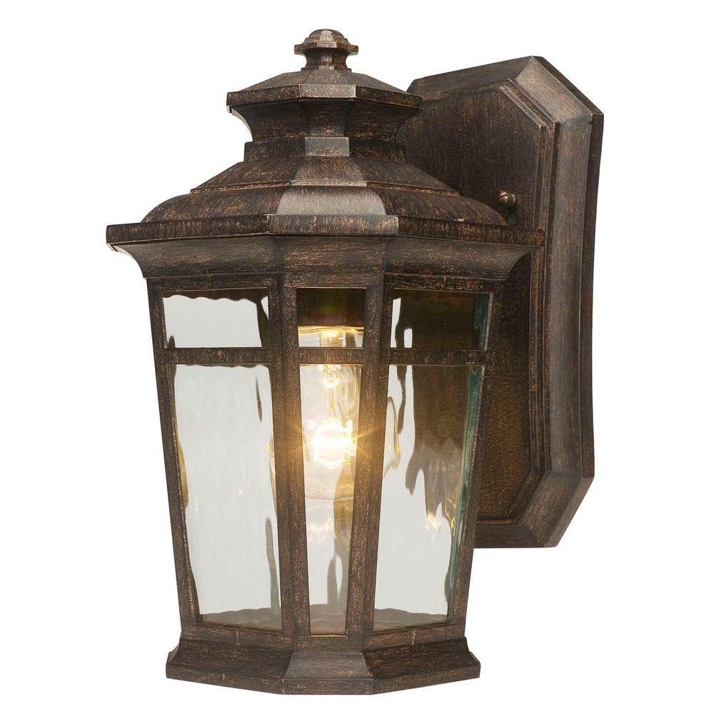 Widely Used Large Outdoor Wall Light Fixtures In Home Decorators Collection Waterton 1 Light Dark Ridge Bronze (View 16 of 20)