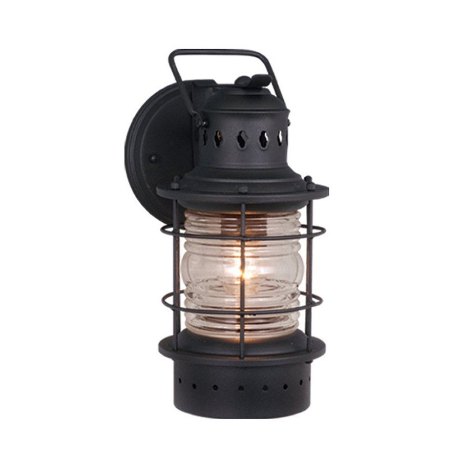 Widely Used Nautical Outdoor Wall Lighting Within Shop Cascadia Lighting Nautical 12 In H Textured Black Outdoor Wall (View 20 of 20)