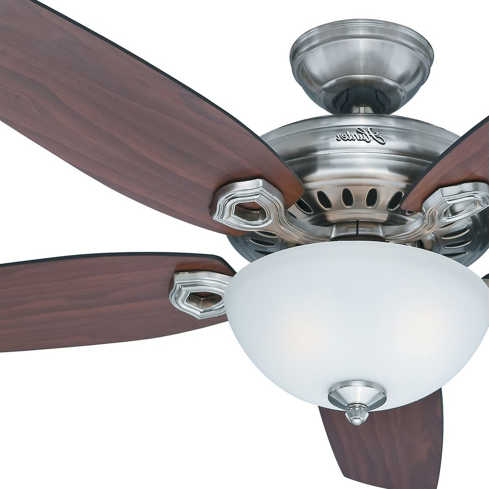 "Widely Used Outdoor Ceiling Fans With Lights At Ebay For 54"" Hunter Fan Brushed Nickel Ceiling Fan With Light Kit And Remote (View 12 of 20)"