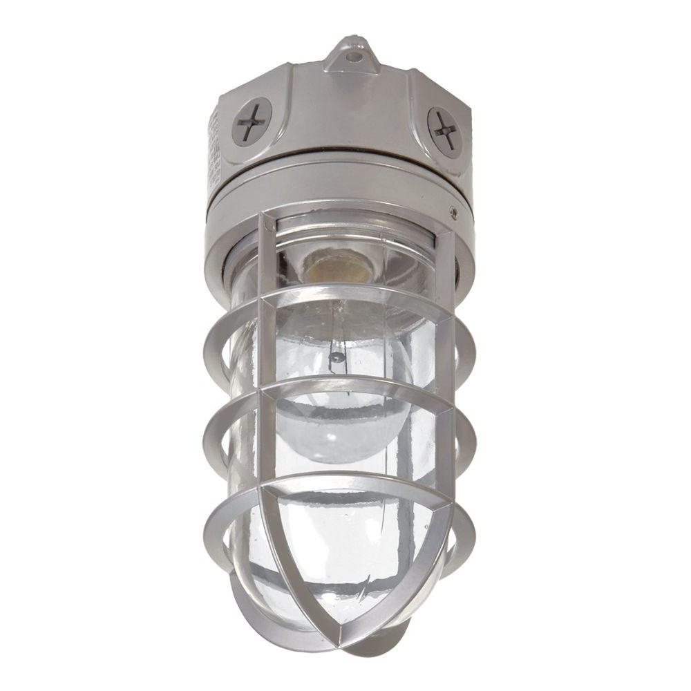 Widely Used Outdoor Ceiling Flood Lights Intended For All Pro 100 Watt Gray Incandescent Outdoor Flushmount Vapor Tight (View 13 of 20)