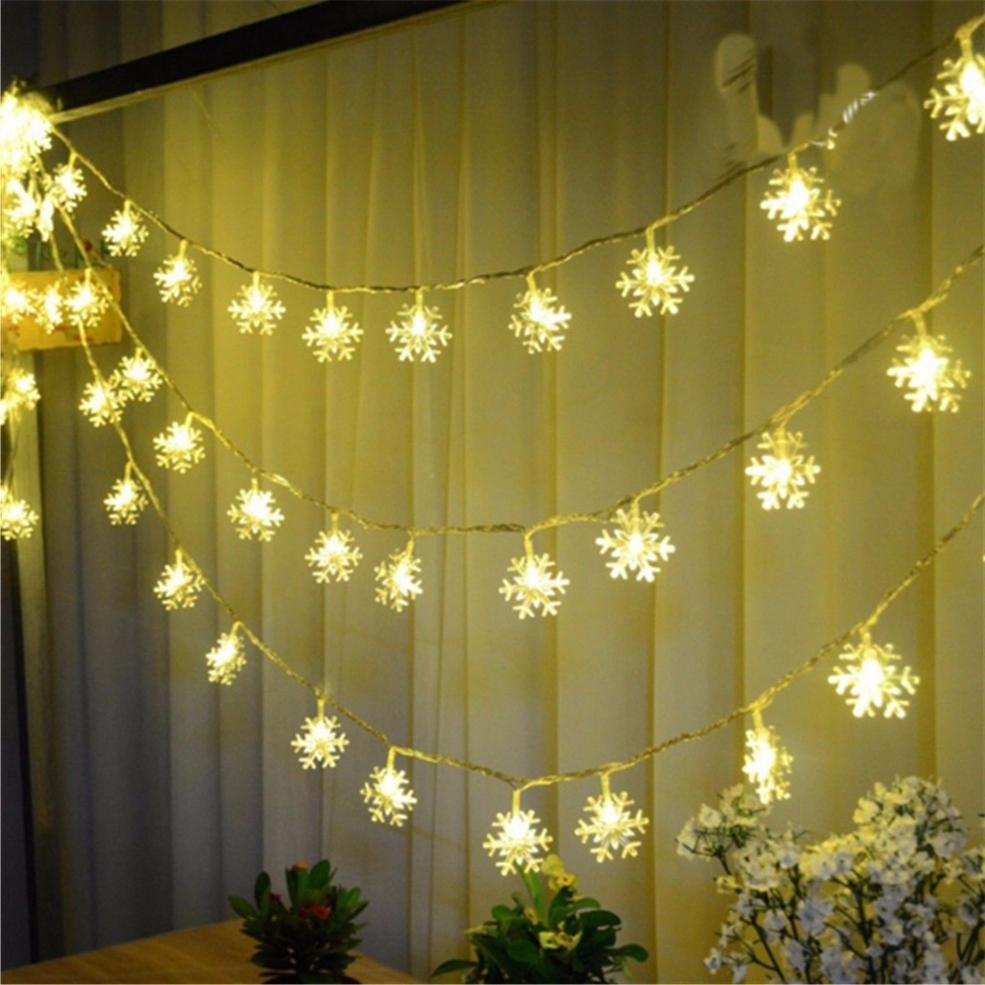 Widely Used Outdoor Hanging Ornament Lights Intended For Mayitr 20 Led Snowflakes String Light Ornament Outdoor Lights (View 12 of 20)