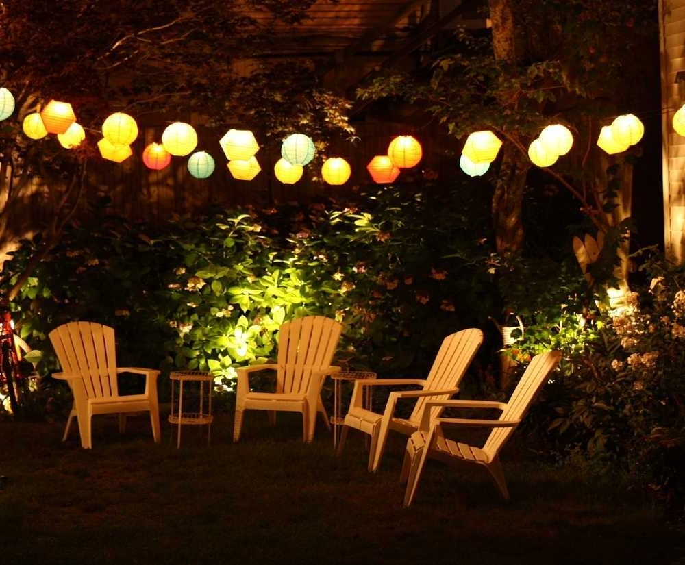 Widely Used Outdoor Hanging String Lanterns Within Best Decoration Outdoor Patio String Lighting Trends And Ideas For (View 9 of 20)