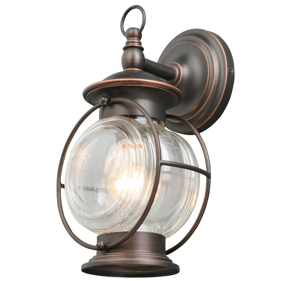 Widely Used Outdoor Wall Light Fixtures At Lowes Pertaining To Shop Portfolio Caliburn (View 9 of 20)