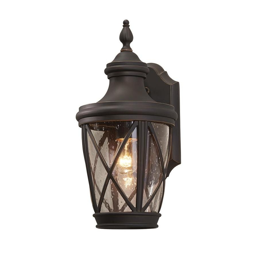 Widely Used Outdoor Wall Lighting At Lowes Intended For Shop Allen + Roth Castine (View 17 of 20)
